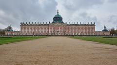 Neues Palais Potsdam (RIch-ART In PIXELS) Tags: potsdam germany deutschland neuespalais fujifilmxt20 xt20 parksanssouci architecture building buildingcomplex sky cloud grass sand dome