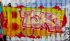 Graffiti in Amsterdam (wojofoto) Tags: amsterdam nederland netherland holland ndsm legalwall graffiti streetart wojofoto wolfgangjosten tsk throw throwup throwups throws
