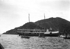 Travel photo, circa 1902. (SDNHM-Library) Tags: boats negatives photoalbums california santacatalinaisland catalinaisland channelislands sdnhm