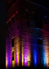Holy Trinity Church, Uppsala, November 2, 2019 (Ulf Bodin) Tags: alltljuspåuppsala uppsala sverige tower bondkyrkan canonrf85mmf12lusm vertorama light kväll sweden outdoor helgatrefaldighetskyrka canoneosr night trefaldighetskyrkan uppsalalän