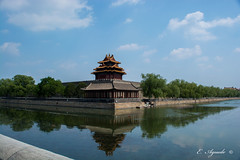 Moat (E. Aguedo) Tags: palace museum beijing china asia moat water sky trees history old culture travel tourism tower forbidden city clouds outdoors ngc