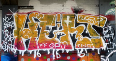 Graffiti in Amsterdam (wojofoto) Tags: amsterdam nederland netherland holland ndsm legalwall graffiti streetart wojofoto wolfgangjosten hert throw throwup throwups throws