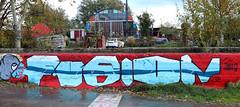 Graffiti in Amsterdam (wojofoto) Tags: amsterdam nederland netherland holland ndsm legalwall graffiti streetart wojofoto wolfgangjosten fusion
