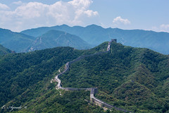 The Great Wall (E. Aguedo) Tags: wall great mountains history badaling china beijing asia travel clouds green nature trees day landscape ngc