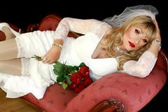 Lisah's dreaming of a white wedding... (lisahfrench) Tags: lisah lisahfrench lisahfrenchbwbg lisahfrenchboyswillbegirls lisahtgirl lisahfrenchtgirl lisahfrenchtg lisahfrenchcd lisahfrenchcrossdresser uktgirl tgirl transvestite crossdresser tgirlbride lisahfrenchbride lisahfrenchwhitewedding transvestitebride crossdresserbride blondtgirl bridalgown whitestockings