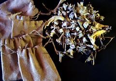 Johnny Hellion (Johnny Hellion) Tags: johnnyhellion divinationthrowingkit voodoo hoodoo chickenfeet frogfeet keys dice bones beads skulls wishbones skin pennies fortunetelling ratfeet rustednails bonethrowingkit animalbones occult witchcraft seashells
