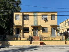 Art Deco Apartment Building Little Havana 1937 (Phillip Pessar) Tags: apartment building little havana architecture 1937 art deco