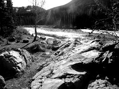 Heartland Southern Alberta (Mr. Happy Face - Peace :)) Tags: nature hiking cans2s albertabound art2019 wilderness forest canada black white bw highwood river