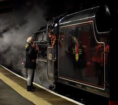 Oh Dear, Not Happy! (whosoever2) Tags: uk united kingdom gb great britain england nikon d7100 train railway railroad november 2019 45231 steam locomotive crewe cheshire 5z26 black5 stanier