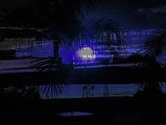 A Bright Moonlit Night... (soniaadammurray - On & Off) Tags: digitalphotography manipulated collage abstract nighttime moonlight moon sky trees landscape stadiumlights garden shadows reflections exterior table blue spotlightyourbestgroup artchallenge