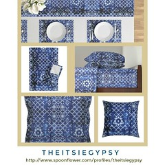 Shades of blue (@catlinglinda) Tags: spoonflower roosteryhome