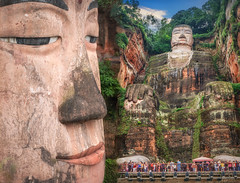 Biggest Buddha in the world (Flight of life) Tags: biggest buddha world leshan tang dynasty statue built rock china