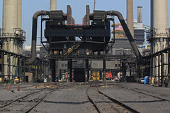 When I think of hell.... (GLC 392) Tags: hell dinky dinkys dinkies emd sw1500 battery powered cab cars coke clairton pa pennsylvania ble uss ussx railroad railway train steel mill plant us 150