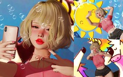 Sunny. (#Persophone) Tags: cutie kawaii slphotography selfieposeset blackdragon analogpose secondlife