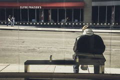 Homage to Hopper. Thanks Ed (Creekside Photog) Tags: newyork edwardhopper homage faded lonely isolated desolate emptystreet streetphotography hellskitchen