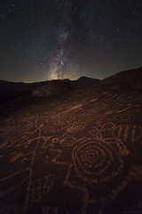 Sacred Stone (Cory Smart) Tags: old history landscape ancient native decay american astrophotography petroglyphs nightphotography sky night dark stars nightsky milkyway astroscape