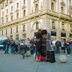 Firenze Puppet Master (Scott Micciche) Tags: 75mm kodak believeinfilm firenze madewithkodak portra800 rolleiflex sixbysix toscana