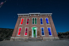 The House Of Bel (Nocturnal Kansas) Tags: night nocturnal moon full courthouse nevada mining nightphotography lightpainting longexposure d800 nikon led1 protomachines