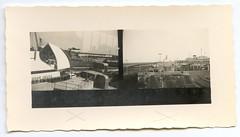 . (Kaïopai°) Tags: vintage kontaktabzug reise travel fähre ferry ship schiff eisenbahn bahn zug railway roro hafen harbor port bahnhof station