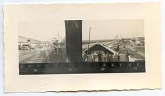 . (Kaïopai°) Tags: vintage kontaktabzug reise travel fähre ferry ship schiff baltic ostsee roro hafen harbor port bahnhof station