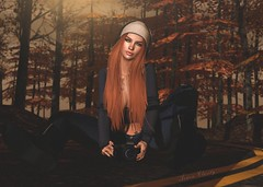 Wonderwall (Arwen Clarity) Tags: potd legacy mesh life second 2ndlife people pose sl secondlife sllooksgoodtoday photography autumn fall road focusposes redhead