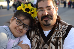 Proof they were there (radargeek) Tags: dayofthedead plazadistrict oklahomacity oklahoma 2019 november portrait flowers kid child glasses mustache okc