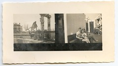 . (Kaïopai°) Tags: vintage kontaktabzug reise travel fähre ferry ship schiff roro hafen harbor port bahnhof station