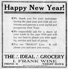 New Year - Enquirer - 30 Dec 1915