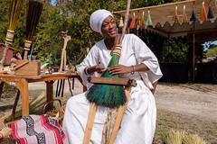 Broom Maker (-Dons) Tags: austin austincelticfestival2019 pioneerfarms texas unitedstates tx usa austincelticfestival smile woman broom