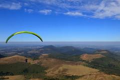 A flying dream (Kaïyah) Tags: breathtakinglandscapes landscape volcano puydedôme auvergne parapente fly sky mountains vol flying