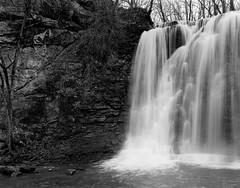 Hayden Falls in 4x5 film (wetmorew) Tags: breathtakinglandscapes flickrexplore sheetfilm ilfordhp5 ilford handprocessed ilfosol3 nikkorw150 linhofkaranste linhof largeformat falls waterfall 4x5 analog film columbus ohio haydenfalls