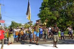 The Big Stepper (roijoy) Tags: settlementday celebration garifuna 2214 garinagu flag belize hopkins tradition