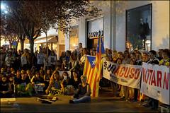 Freedom   Blanes, Catalonia (Flemming J. Gade) Tags: catalan anniversary 10 freedom freeomforthepoliticalprisoners votingisnotacrime yellow yellowribbon blanes catalonia manifestation