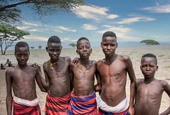 Dassanech  Boys (Rod Waddington) Tags: africa african afrique afrika kenya kenyan omovalley omo omoriver outdoor dassanech tribe tribal traditional trees landscape group culture cultural children village ethnic ethnicity