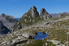 Der Piz dal Päl mit Seeli (Albigna, Bergell, Graubünden) (13/09/2019 -09) (Cary Greisch) Tags: albigna bergell che carygreisch kantongraubünden pizdalpäl see switzerland valbregaglia lac