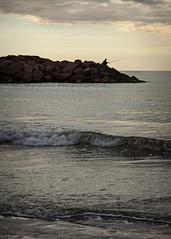 morning yearning (*BegoñaCL) Tags: earlymorning sea fisherman mediterráneo summer wave rocks clouds begoñacl bg~