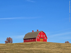 Red Barn & Blue Sky, 19 Nov 2019 (photography.by.ROEVER) Tags: kansas leavenworthcounty country rural countryside linwood barn red redbarn bluesky blueskies outside november 2019 november2019 fall autumn fall2019 autumn2019 clear usa