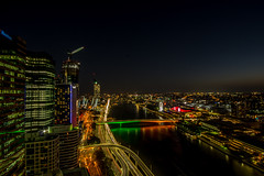 Brisbane from the 36th floor at night (agasfer) Tags: 2019 australia brisbane cityscapes pentax k3 sigma1020