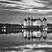 B/W Moritzburg with reflection