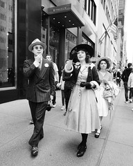 Those were happy times and not so long ago (mkc609) Tags: street streetphotography bw blackandwhite blackwhite urban candid nyc newyork newyorkcity rockefellacenter 50s midcentury