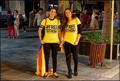 Free Them All   Blanes, Catalonia (Flemming J. Gade) Tags: catalan anniversary 10 freedom freeomforthepoliticalprisoners votingisnotacrime yellow yellowribbon blanes catalonia manifestation