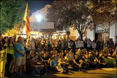 Manifestation   Blanes, Catalonia (Flemming J. Gade) Tags: catalan anniversary 10 freedom freeomforthepoliticalprisoners votingisnotacrime yellow yellowribbon blanes catalonia manifestation