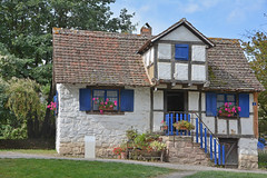 Ungersheim (Haut-Rhin) FRANCE (Bernard P.) Tags: france alsace hautrhin maison colombages traditions autrefois nikon