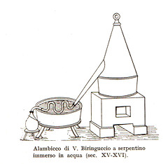 Alambicco di V. Biringuccio a serpentino immerso in acqua ( sec. XV - XVI) (Sparkling Wines of Puglia) Tags: alambicco distillazione vino illustrated illustraciones illustrazioni illustrations illustration antico ancien