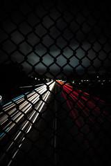 SOLACE (Joseph Frizzle) Tags: sony a 6400 night photography long exposure lights trails cloudy rain cars tail head white red blue black fence time warp cali california los angeles la bridge fog