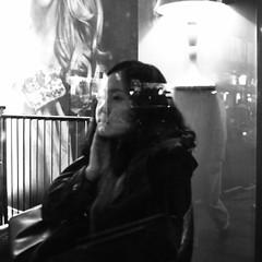 Reflections. London 2012 (Sam Benari) Tags: acros bw fujifilm london monochrome night reflection social soho streetphotography unitedkingdom windows x100 blackandwhite