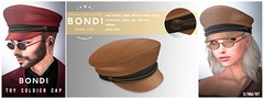 BONDI Toy Soldier Cap (Manu Wrydan (BONDI owner)) Tags: bondi tannenbaum winter fashion unisex cap leather toysoldier accesory newrelease event secondlife originalmesh
