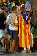 Proud Catalans   Blanes, Catalonia (Flemming J. Gade) Tags: catalan anniversary 10 freedom freeomforthepoliticalprisoners votingisnotacrime yellow yellowribbon blanes catalonia manifestation