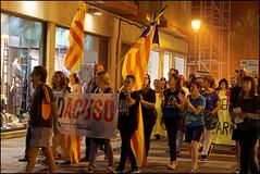 We Accuse   Blanes, Catalonia (Flemming J. Gade) Tags: catalan anniversary 10 freedom freeomforthepoliticalprisoners votingisnotacrime yellow yellowribbon blanes catalonia manifestation