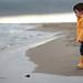 France-Gard-Plage de l'Espiguette-Automne Tiago à la mer